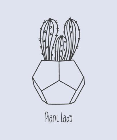 T-Shirt Design Maker Featuring a Cactus on a Pot 392c-el1