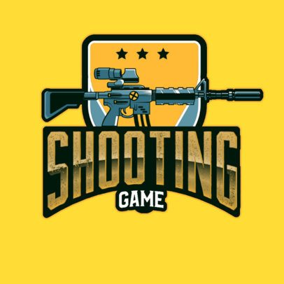 Gaming Logo Maker Featuring a Sniper Graphic 3019a