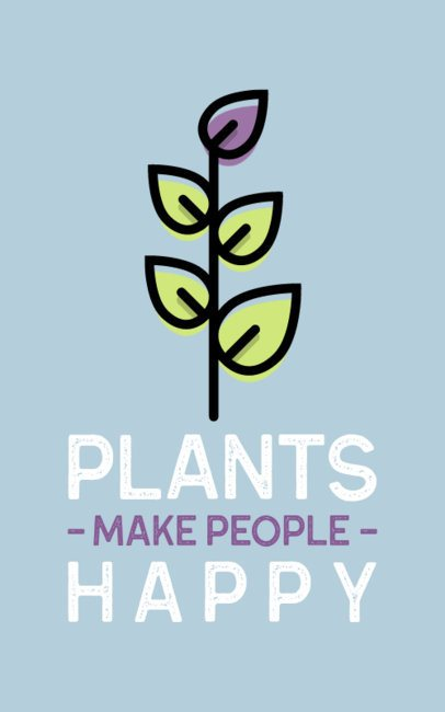 T-Shirt Design Template with a Healthy Plant Icon 387a-el1
