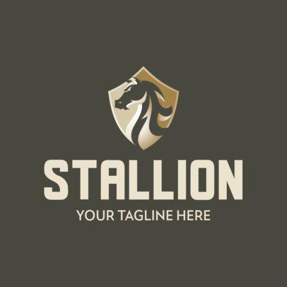 Logo Template with an Elegant Stallion Emblem 342c-el1