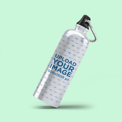 Aluminum Bottle Mockup with a Customizable Background 3072-el1