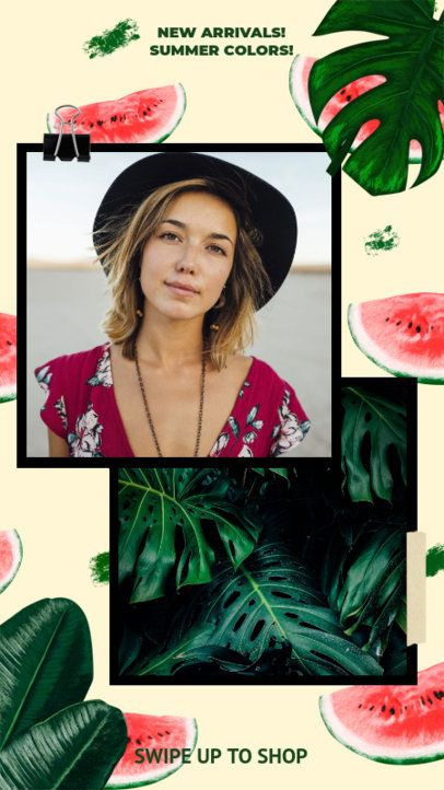 Instagram Story Template with Watermelon Graphics 2320a