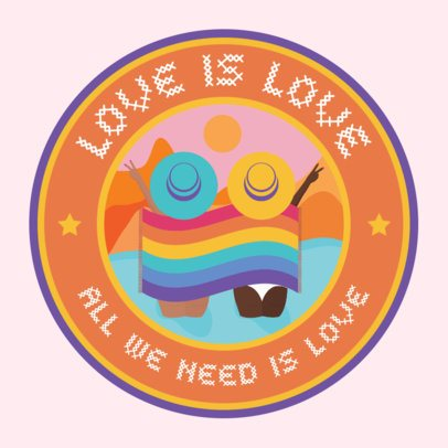 LGBTQ-Themed Sticker Design Generator 2338g