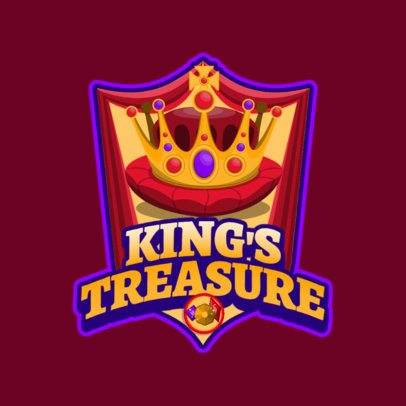 Mobile Gaming Logo Generator with a King's Crown Graphic 3042f