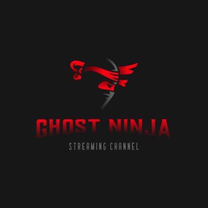Minimal Logo Maker for Gaming Streamers Featuring a Dark Ninja Clipart 3033d