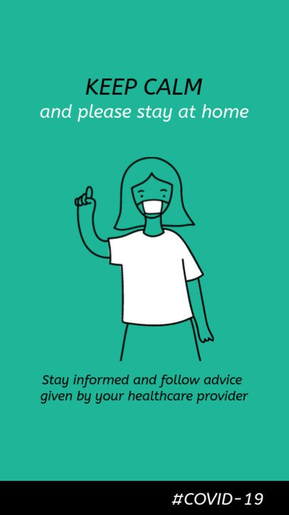 Instagram Story Maker Featuring Coronavirus Prevention Tips with a Female Doctor Graphic 2173e 2392