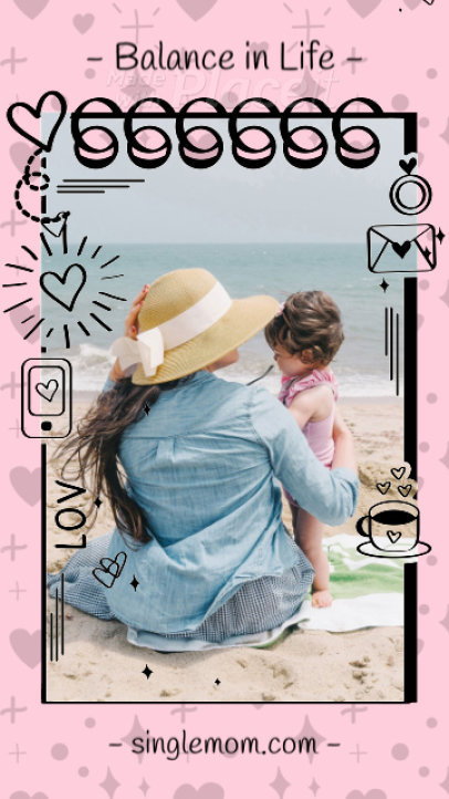 Instagram Story Maker Featuring Animated Notes and Pictures 1589