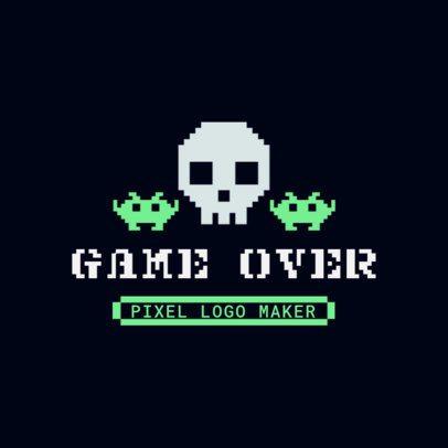 Gaming Logo Generator with an 8-bit Skull 3063c