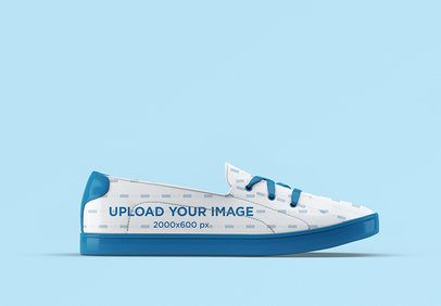 Mockup Featuring Sneakers with Customizable Laces 3276-el1