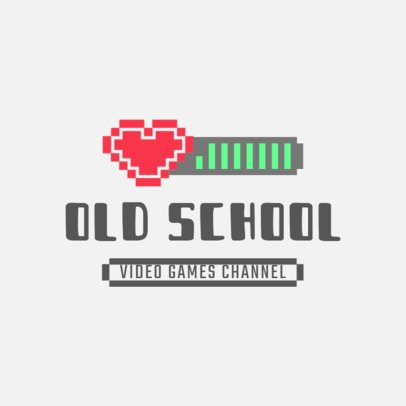 Gaming Logo Maker with a Pixel Life Bar Graphic 3063d