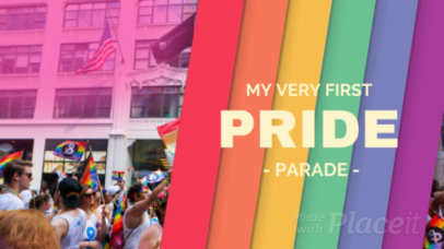 Facebook Cover Video Maker for Pride Month 1576