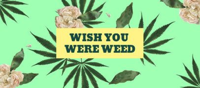 Cannabis-Themed Facebook Cover Maker with Trippy Graphics 2376a