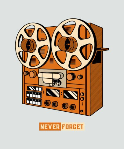 T-Shirt Design Creator Featuring an Old Audio Recorder 602a-el1
