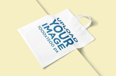 Mockup of a Plastic Bag Lying on a Solid Color Surface 3468-el1