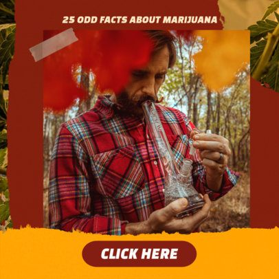 Ad Banner Design Maker for Facts About Marijuana 2377d