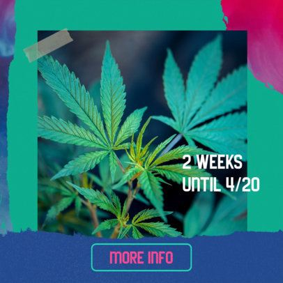 Colorful 420-Themed Ad Banner Design Template 2377c