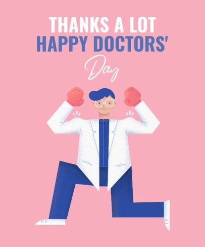 T-Shirt Design Template for a National Doctor's Day Celebration 2397