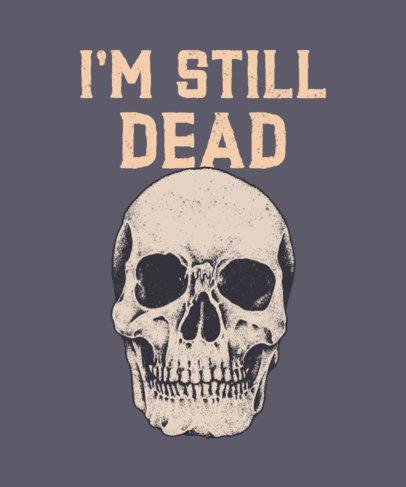 Daring T-Shirt Design Generator with a Rebel Skull Graphic 716c-el1
