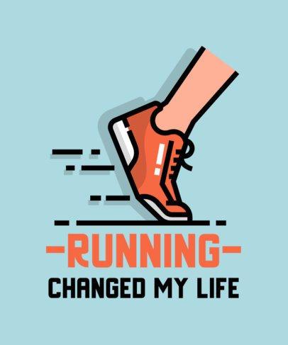 Sports T-Shirt Design Maker for Runners 713a-el1
