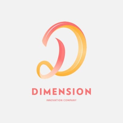 Abstract Logo Template with a Continuous D Letter 649a-el1
