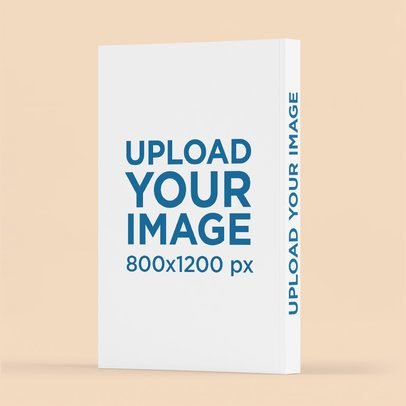 Mockup Featuring the Back of a Paperback Book Against a Plain Backdrop 3436-el1