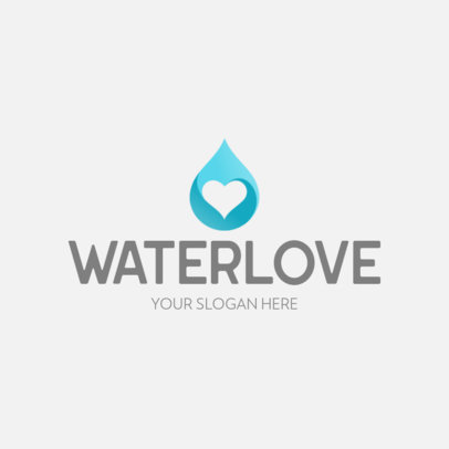 Logo Maker with the Icon of a Heart-Shaped Drop of Water 645a