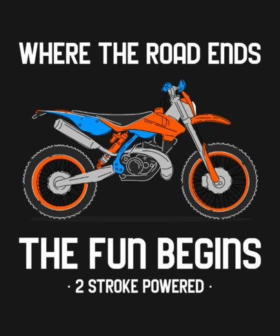 T-Shirt Design Generator Featuring a Motocross Bike Illustration 2406a