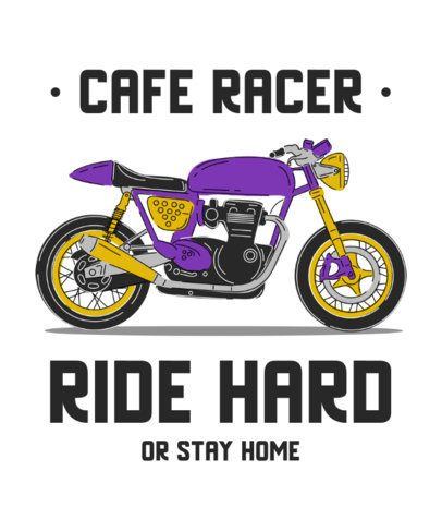 T-Shirt Design Generator Featuring a Café Racer Motorcycle Clipart 2406e