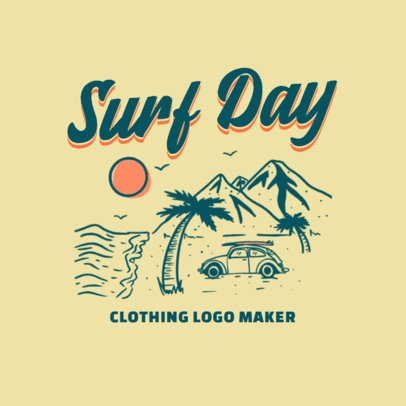 Clothing Logo Maker with a Vintage Surfing-Theme Graphic 3087e