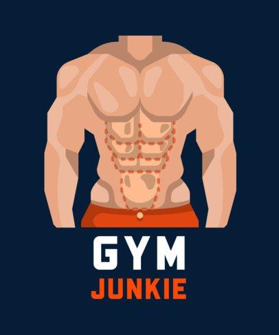 Sports T-Shirt Design Maker for Gym Junkies 710-el1