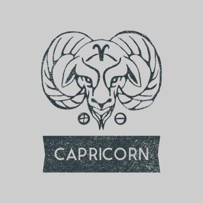 Zodiac Logo Template Featuring a Capricorn Sign Graphic 3079e