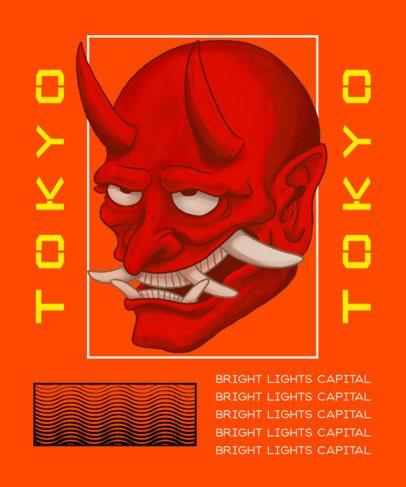 Trendy T-Shirt Design Creator with an Evil Oni Illustration 2398e