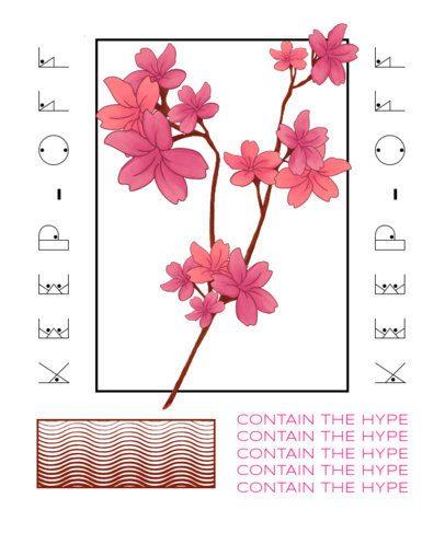 Modern T-Shirt Design Generator Featuring a Branch of a Sakura Tree 2398d