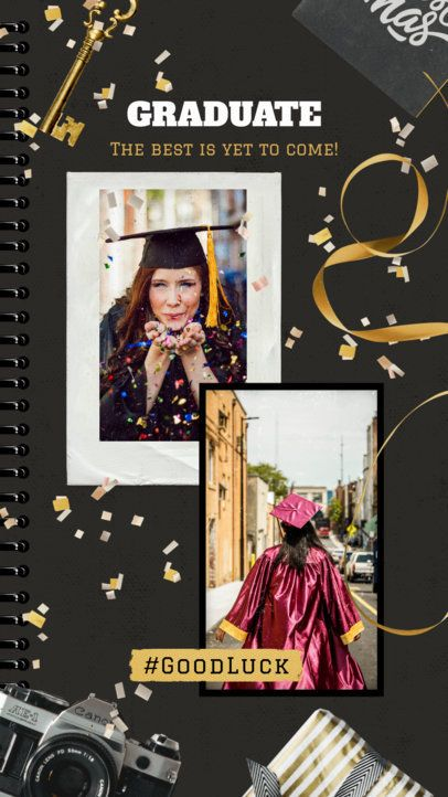 Instagram Story Template with Graduation Day Instant Photo Frames 2430