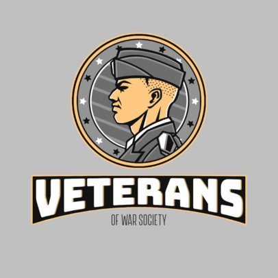 Gaming Logo Generator with a Proud Veteran Graphic 3122d