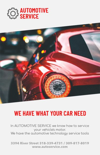 Online Flyer Maker for an Automotive Service Provider 279d