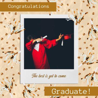 Instagram Post Generator Featuring a Graduate Dabbing 2431h