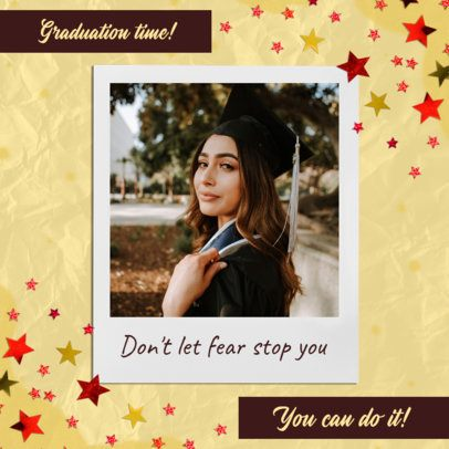 Instagram Post Generator for Graduation Day Featuring a Motivational Quote 2431n