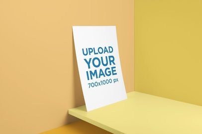 Mockup of a Letterhead Leaning on a Customizable Colored Setting 3176-el1