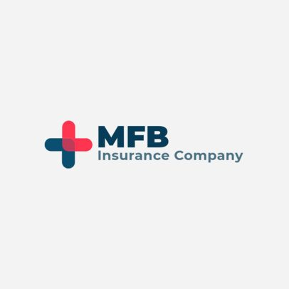 Logo Maker for an Insurance Company with a Plus Icon 3117f