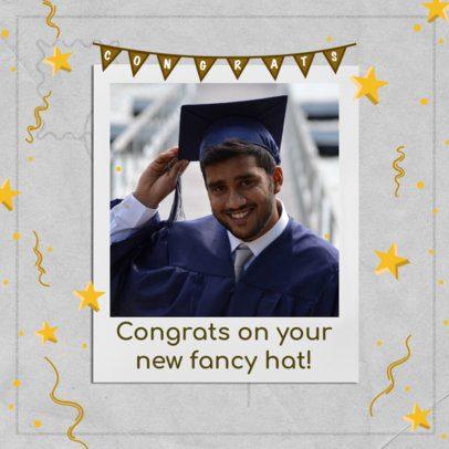 Graduation-Day Instagram Post Creator Featuring Star Graphics 2431b