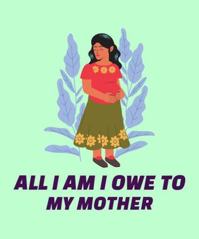 T-Shirt Design Creator with a Grateful Motherhood Quote 2427e