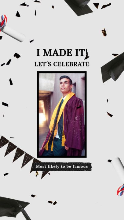 Elegant Instagram Story Creator to Celebrate Graduation Day 2430r