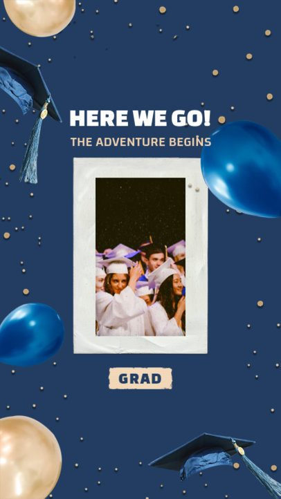 Instagram Story Generator for Graduates Featuring a Framed Photo 2430s