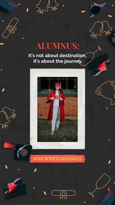 Graduation-Themed Instagram Story Featuring Festive Graphics 2430v