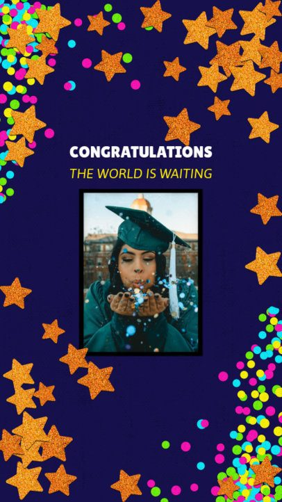 Graduation Day-Themed Instagram Story Creator with Star Graphics 2430i