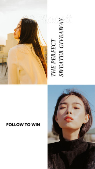 Modern Instagram Story Video Generator With a Minimal Style for a Fashion Brand 1565e 1791