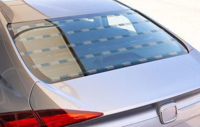 Decal Mockup of the Rear Window of a Car 33276