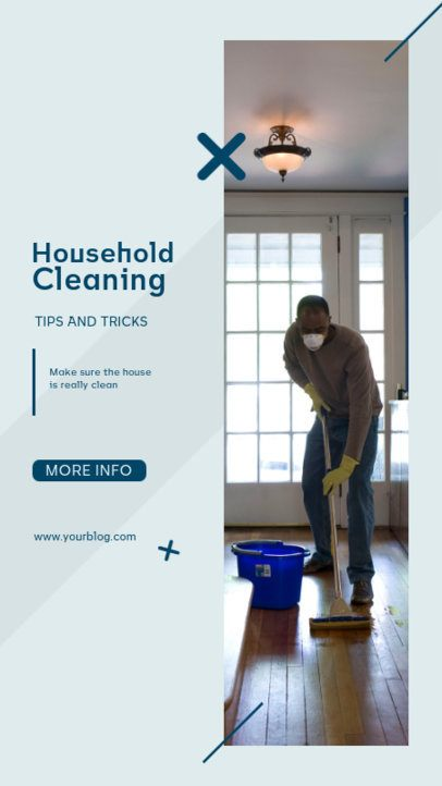 Instagram Story Design Template for a House Cleaning Tips Post 809b-el1