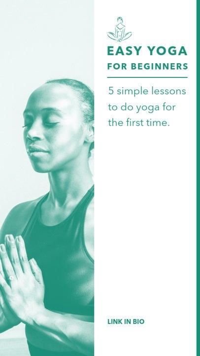 Instagram Story Creator Featuring Beginner Yoga Tips 811a-el1